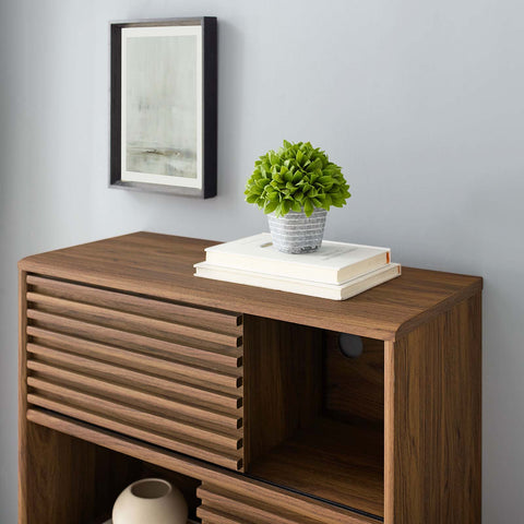 Image of Render Three-Tier Display Storage Cabinet Stand