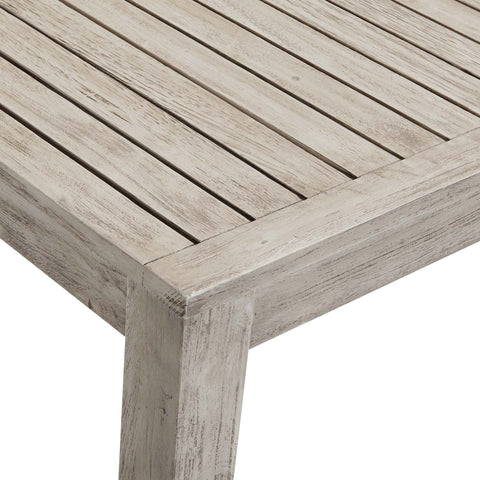 "Wiscasset 59"" Outdoor Patio Acacia Wood Bar Table"