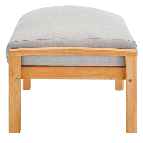Orlean Outdoor Patio Eucalyptus Wood Ottoman