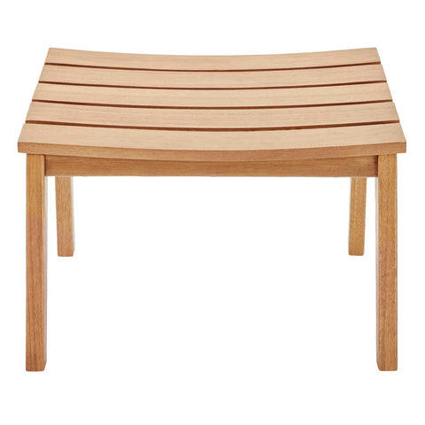 Breton Outdoor Patio Ash Wood Ottoman