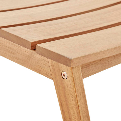 Image of Breton Outdoor Patio Ash Wood Ottoman