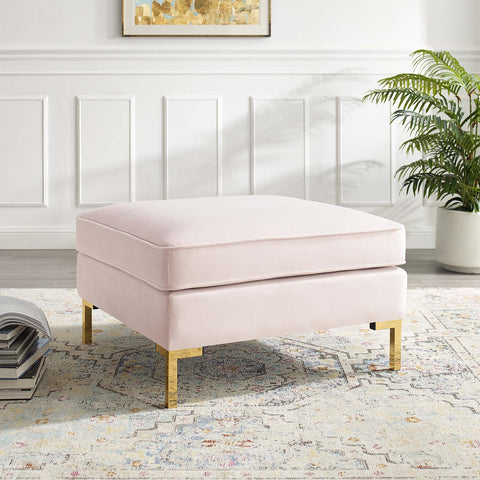 Image of Ardent Performance Velvet Ottoman