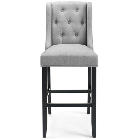 Image of Baronet Bar Stool Upholstered Fabric Set of 2
