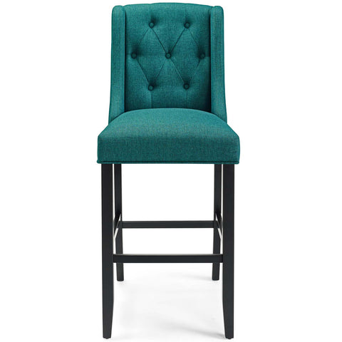 Baronet Bar Stool Upholstered Fabric Set of 2
