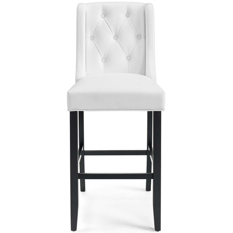 Image of Baronet Bar Stool Faux Leather Set of 2