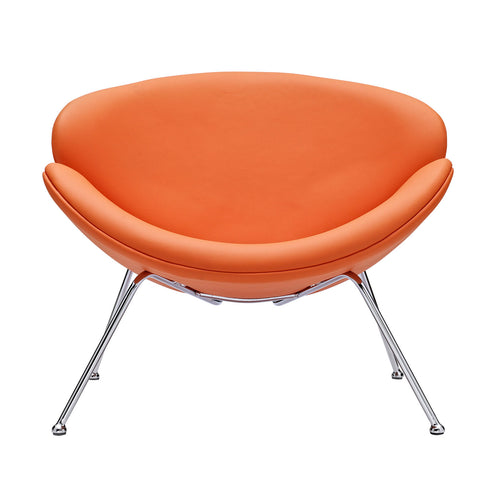 Image of Nutshell Upholstered Vinyl Lounge Chair