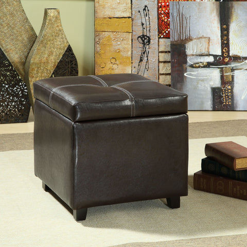 Image of Treasure Upholstered Vinyl Ottoman