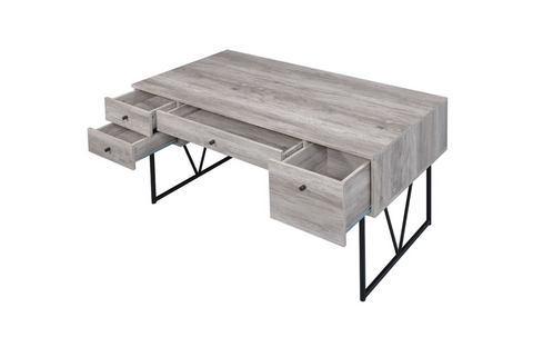Image of Analiese Writing Desk In Grey Driftwood