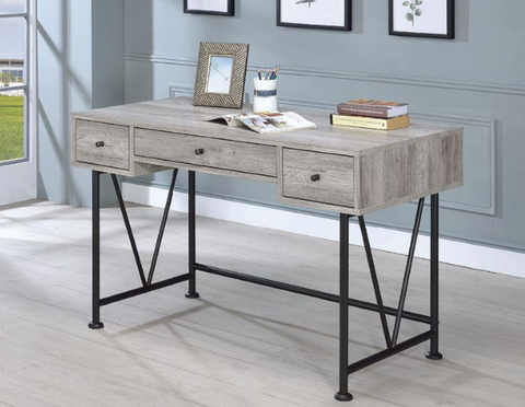 Image of Analiese Small Desk In Grey Driftwood