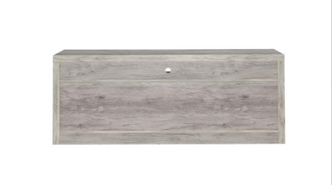 Image of Westfay Grey Driftwood TV Console With Drawers