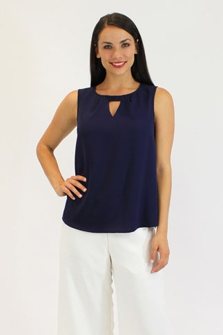 Robyn Top in Navy