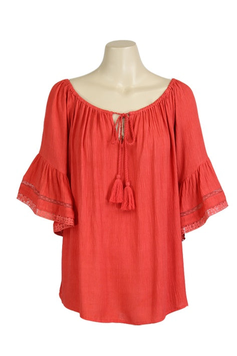 Leila Top in Red