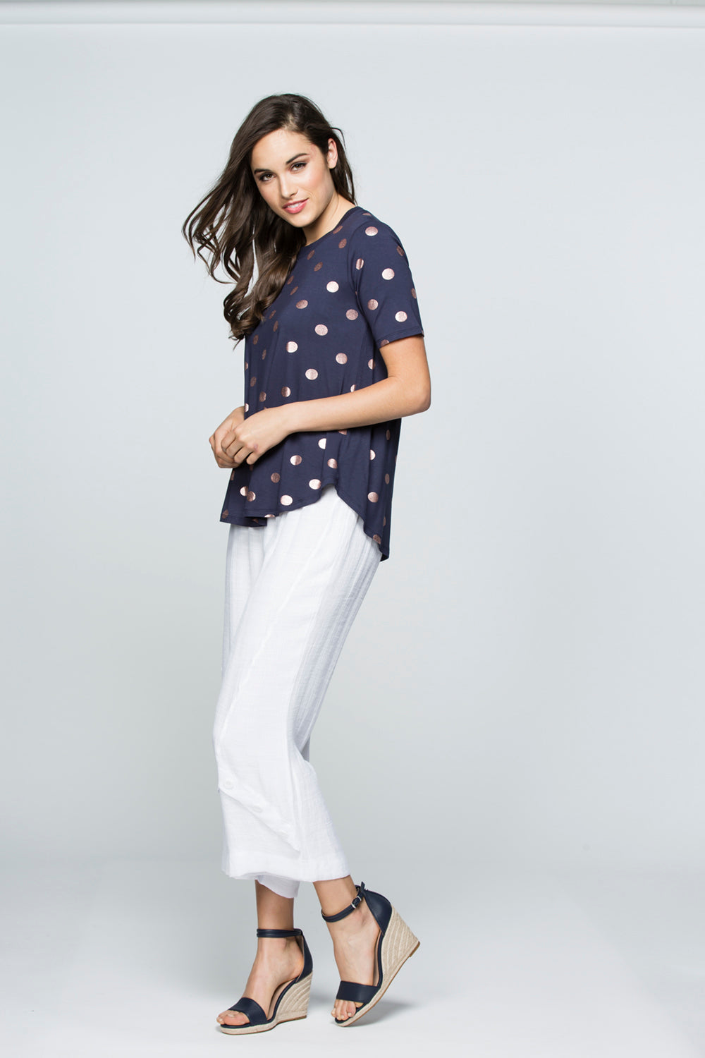 Catherine Top in Navy