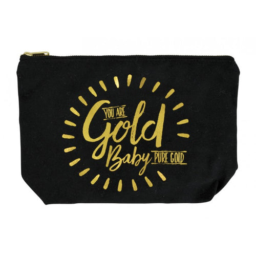 Canvas Cosmetic Bag - Gold Baby
