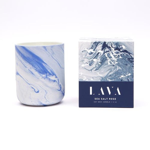 Lava Candles - Sea Salt Rose