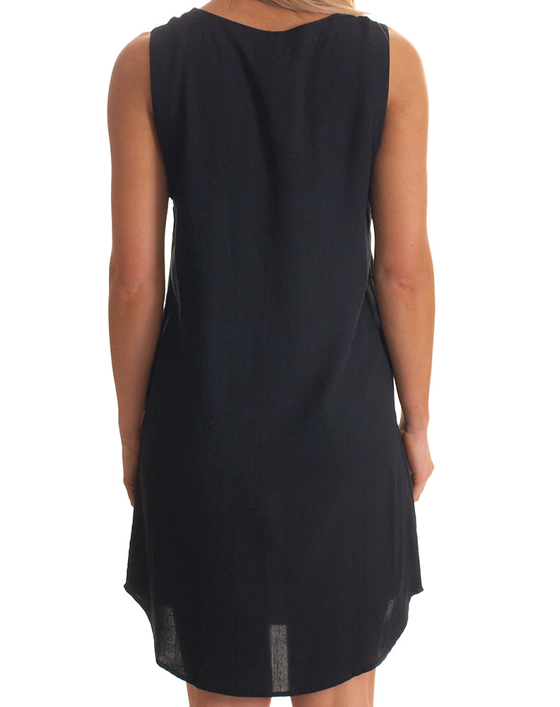 Cara Zip Dress in Black