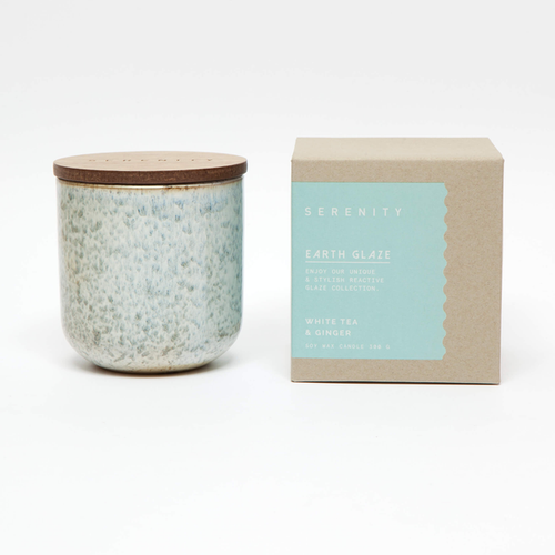 Earth Glaze Candle - White Tea & Ginger