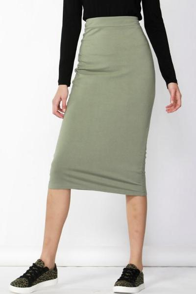 Gigi Skirt in Moss