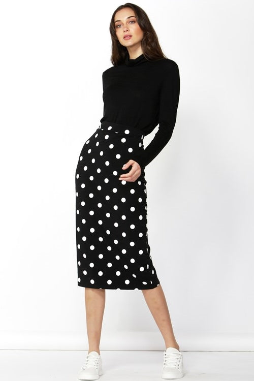 Black/ White Spot Skirt