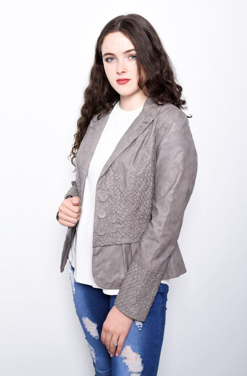 Grey Button Jacket