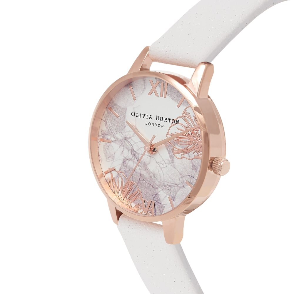 Abstract Florals Blush & Rose Gold