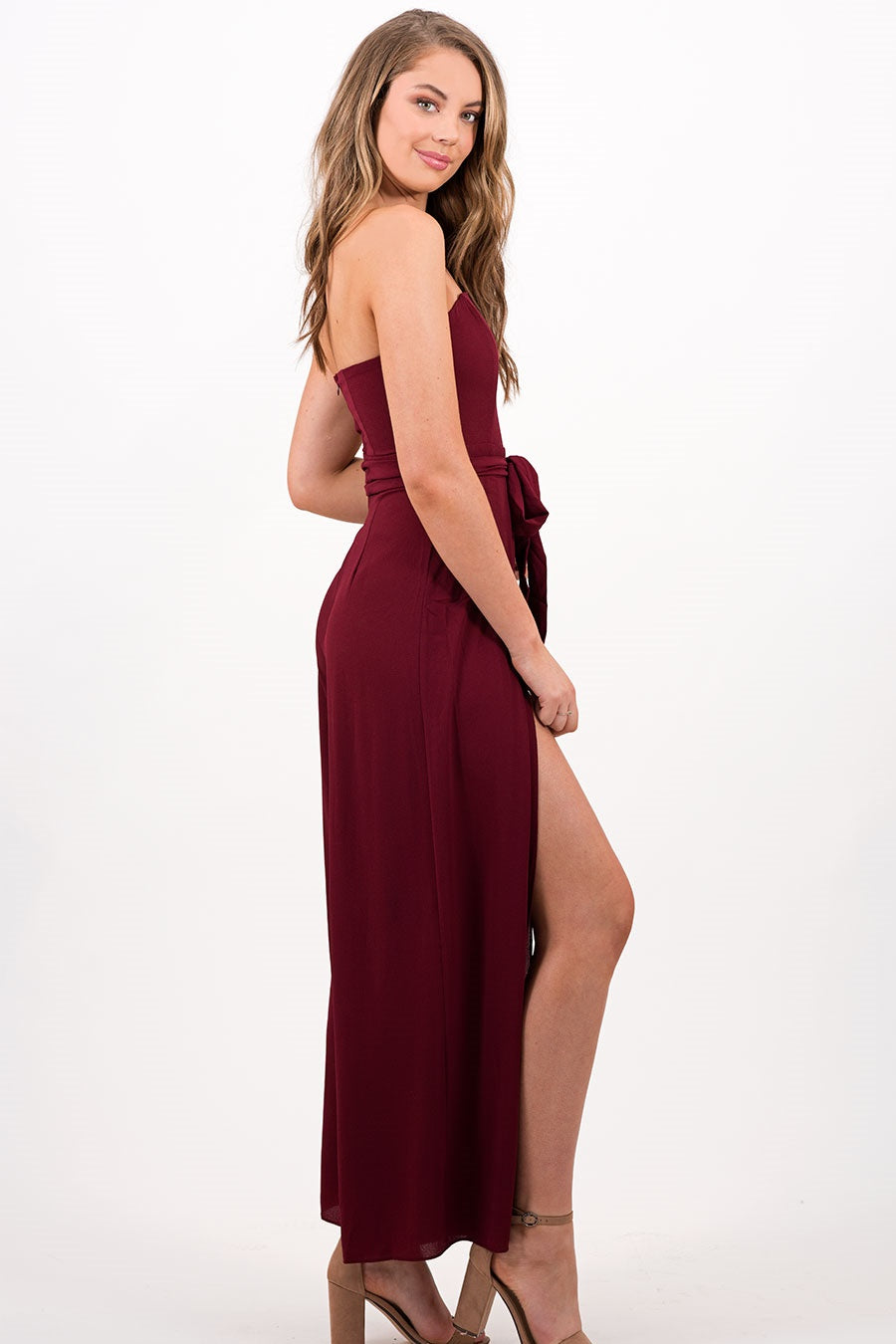 Christy Jumpsuit in Maroon