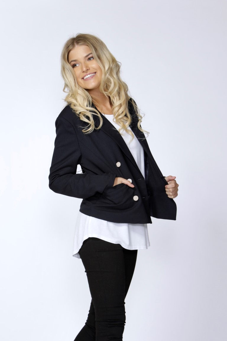Scout Gold Trim Blazer Navy by SASS