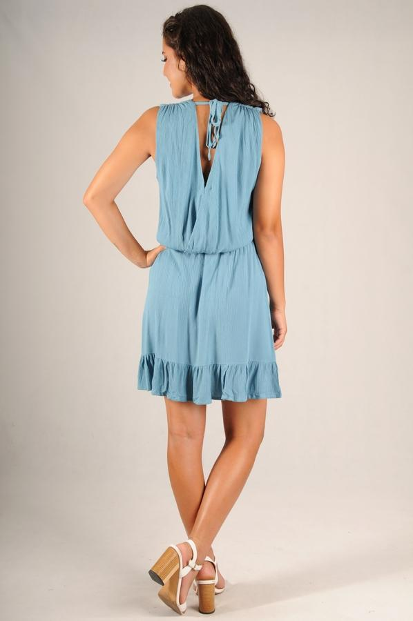 Frill Dress in Blue