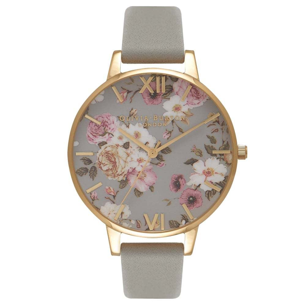 Flower Show Big Dial Grey & Gold Watch