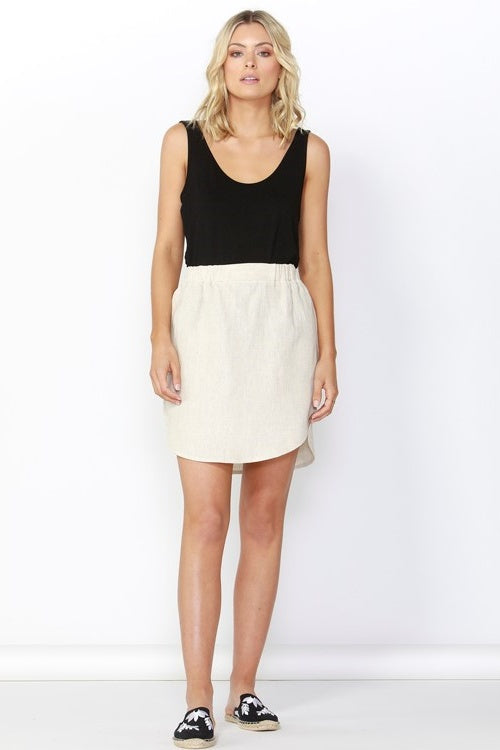 Duke Linen Skirt in Natural