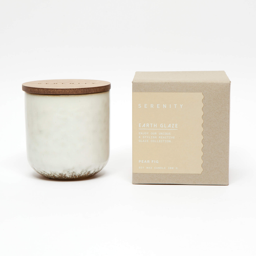 Earth Glaze Candle - Pear Fig