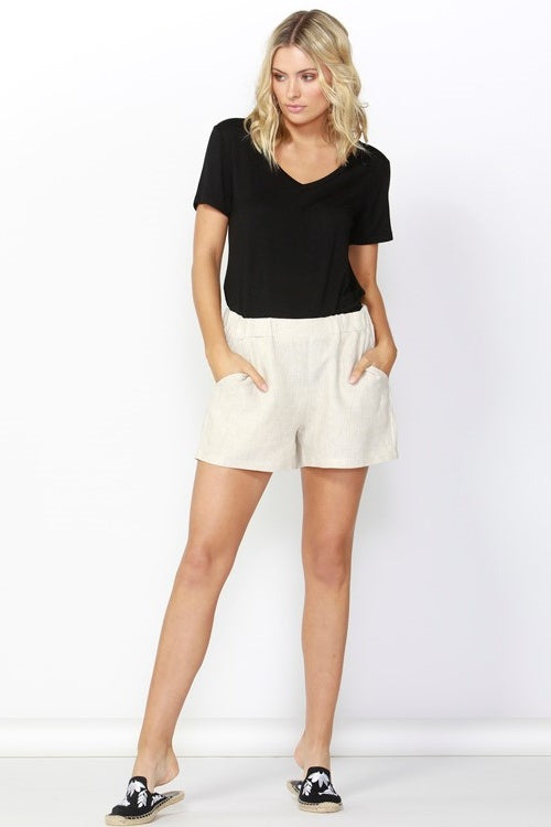 Jax Linen Shorts in Natural
