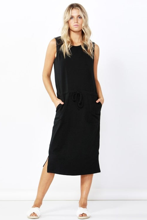 Jennifer Midi Dress in Black