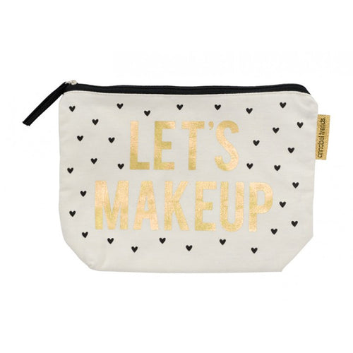 Canvas Cosmetic Bag - Let's Makeup