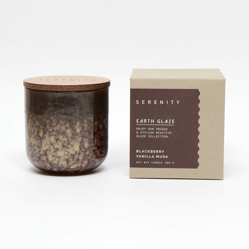 Earth Glaze Candle - Blackberry Vanilla Musk