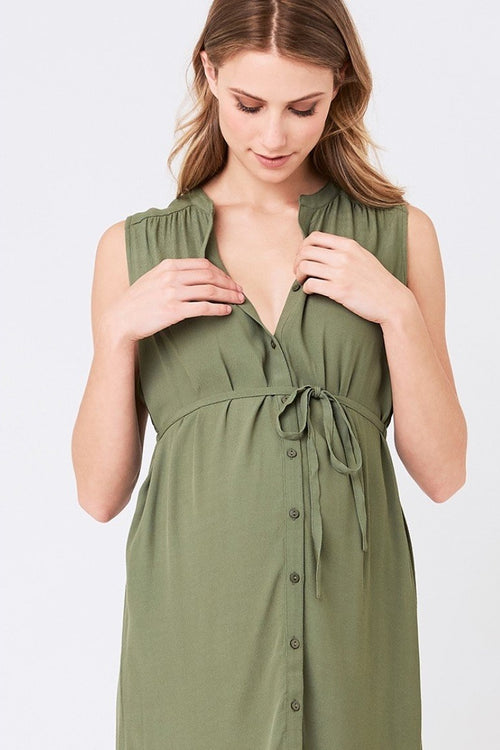 April Dress in Khaki