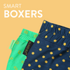 Boxer, Knitted Lenzing Modal, in various prints - Bundies