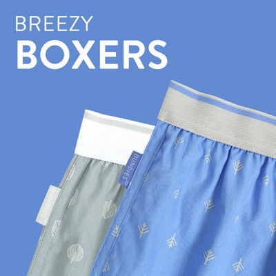 Boxer, Woven Organic Cotton, in various prints