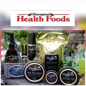 TouShea Products Now available in two new locations in Wasaga Beach & Midland- Georgian Health Foods.