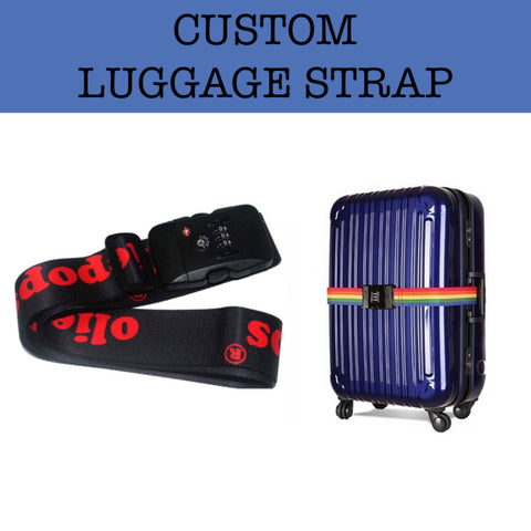 custom luggage strap corporate gift door gift