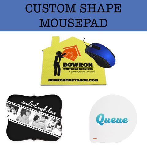 custom shape mousepad door gift corporate gift