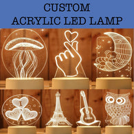 custom acrylic led light lamp corporate gifts door gift