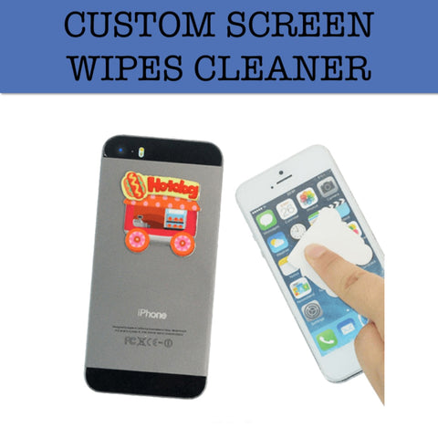 custom screen wipes corporate gift door gift
