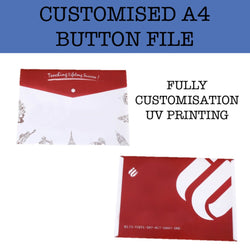 customised a4 button plastic file corporate gifts door gifts