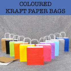 coloured kraft paper bags corporate gifts