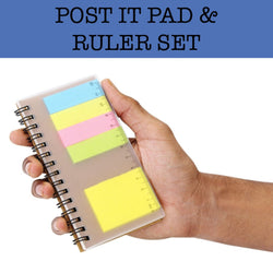 post it pad ruler set corporate gifts door gifts