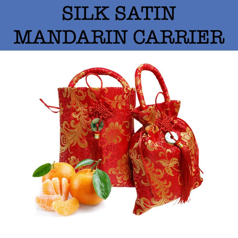 silk satin mandarin oranges carrier corporate gifts door gift
