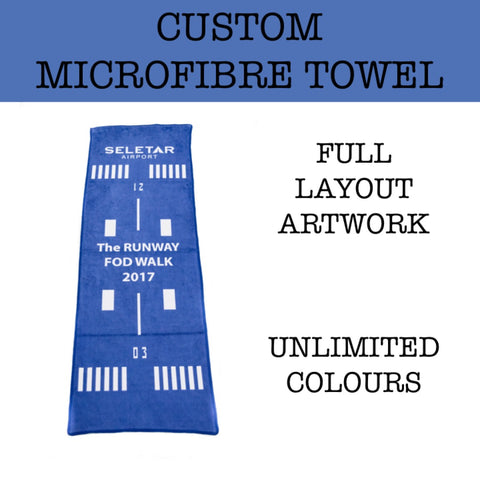 custom print microfibre towel corporate gift door gift