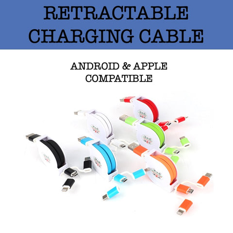 3 in 1 retractable charging cable corporate gifts door gift