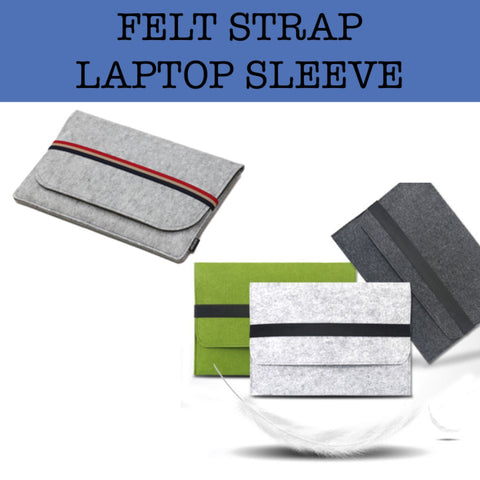 felt strap laptop sleeve corporate gift door gift